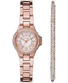 Michael Kors Women's Petite Camille Stainless Steel Bracelet Watch 26mm Gift Set