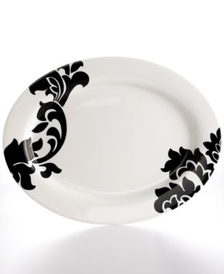 Martha Stewart Collection Lisbon Black Oval Platter