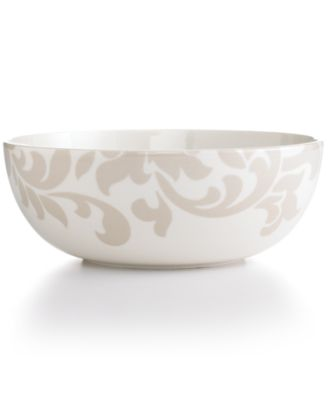 Martha Stewart Collection Lisbon Gray Vegetable Bowl