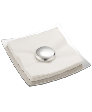 Nambe Napkin Holder, Pebble