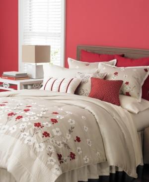 Martha Stewart Collection Bedding, Cherry Lane 9 Piece California King Comforter Set Bedding