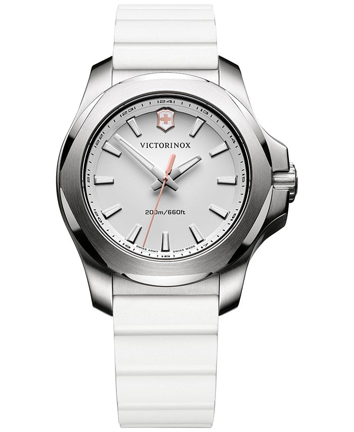Victorinox Swiss Army - Women's I.N.O.X. White Rubber Strap Watch 37mm 241769