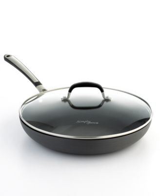 """Simply Calphalon Nonstick 12"""" Covered Omelette Pan"""