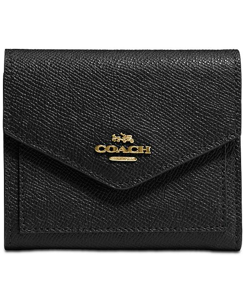 Coach Small Wallet In Crossgrain Leather Reviews Women Macy S