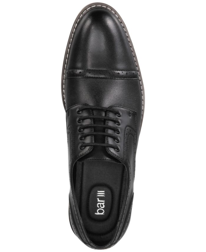 Bar III Men's Parker Leather Cap-Toe Brogues Created for Macy's & Reviews - All Men's Shoes - Men - Macy's