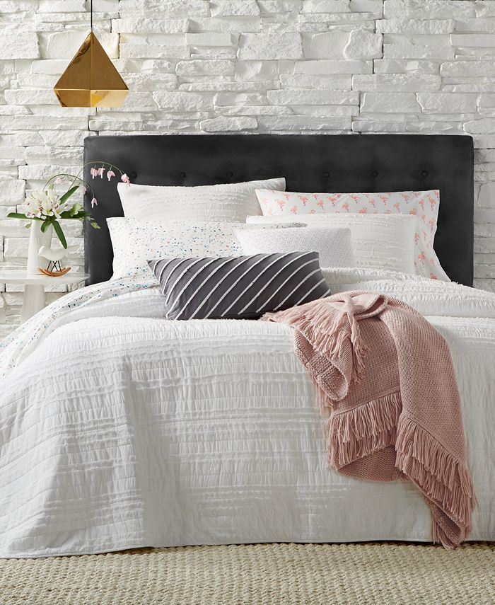 Martha Stewart Collection - Eyelash Stripe Twin Quilt