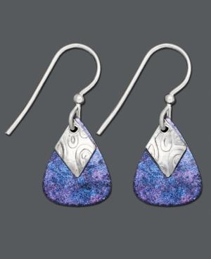 Jody Coyote Sterling Silver Earrings, Blue Teardrop