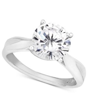 Diamond Ring, 18k White Gold Diamond Solitaire (1 ct. t.w.)