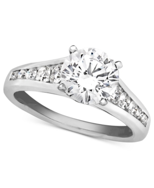 Diamond Ring, 18k White Gold Diamond Solitaire Engagement (2 ct. t.w.)