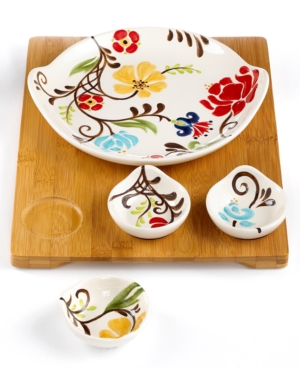 Vida by Espana Dinnerware, Jardine 5 Piece Entertaining Set