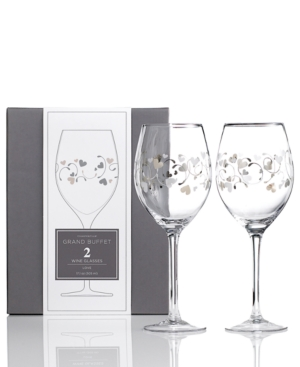 Charter Club Glassware, Set of 2 Novelty Love Wine Glasses