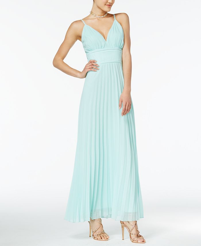Crystal Doll - Juniors' Strappy-Back Maxi Dress