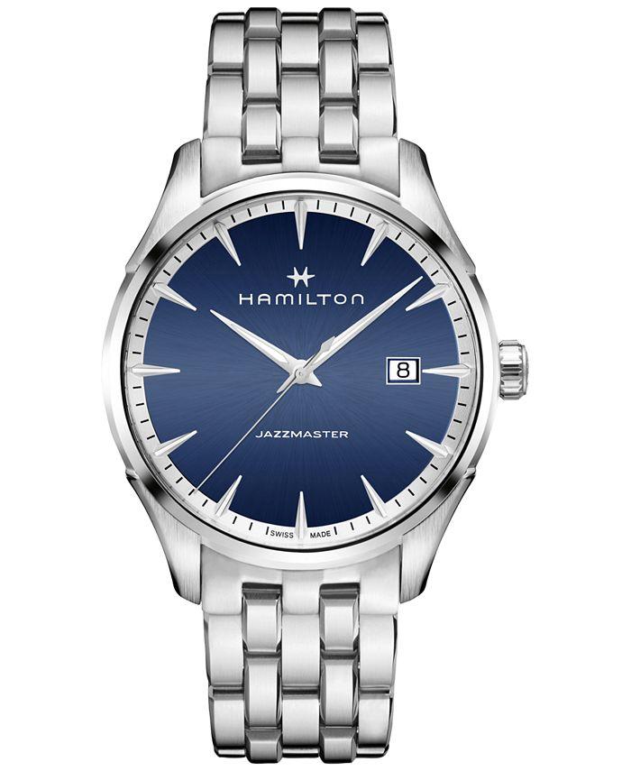 Hamilton - Men's Swiss Jazzmaster Stainless Steel Bracelet Watch 40mm