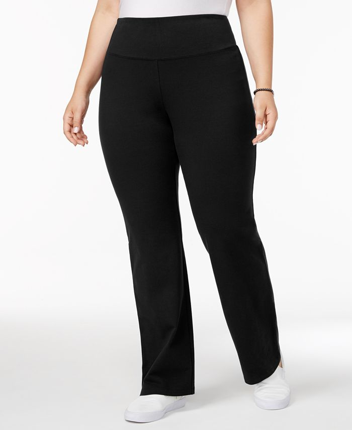 Style & Co - Plus Size Tummy-Control Boot-Cut Yoga Pants