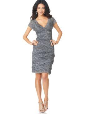 Marina Dress, Cap Sleeve Lace Cocktail Dress