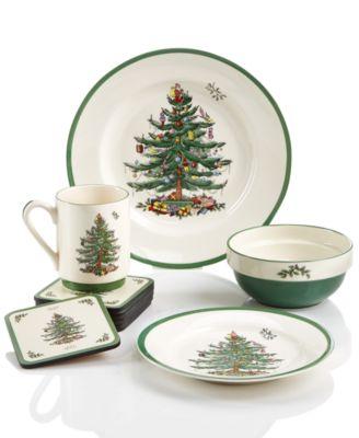 CLOSEOUT! Christmas Tree Dinnerware Salad Plate, Set of 4