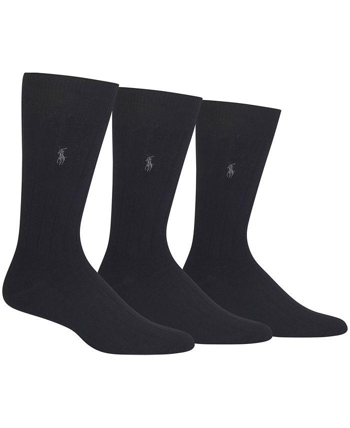 Polo Ralph Lauren - 3 Pack Cotton Rib Casual Socks