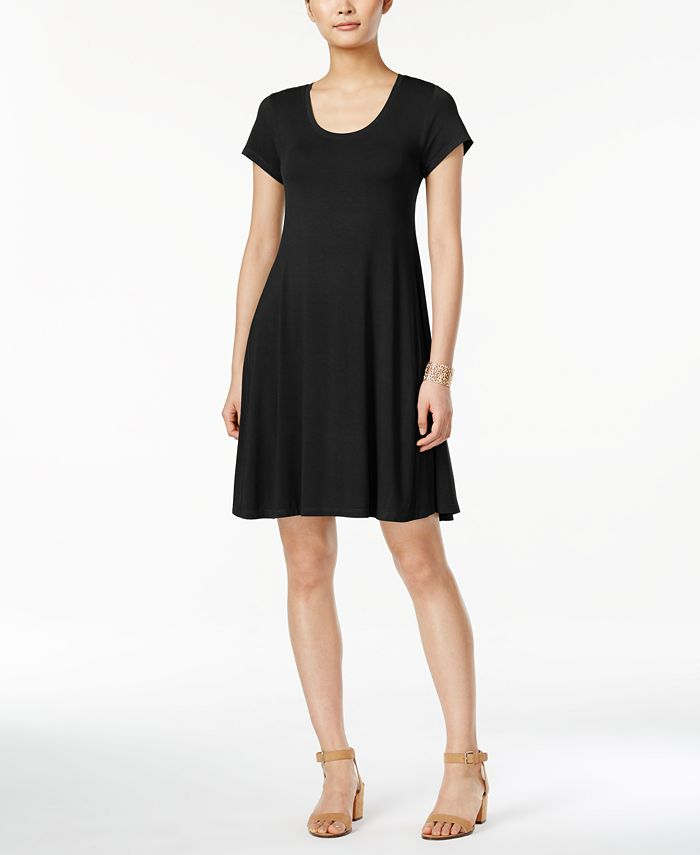 Style & Co - Short-Sleeve Casual Dress