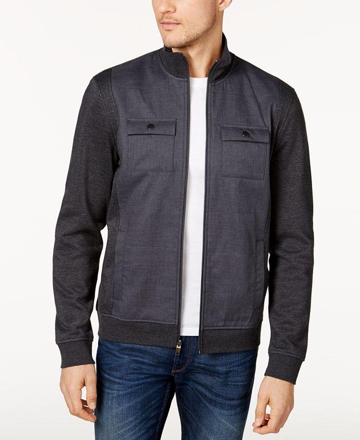 Alfani - Reyes Mixed-Media Shirt Jacket