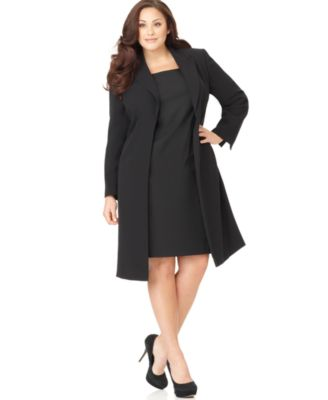 Suit Dress With Long Jacket