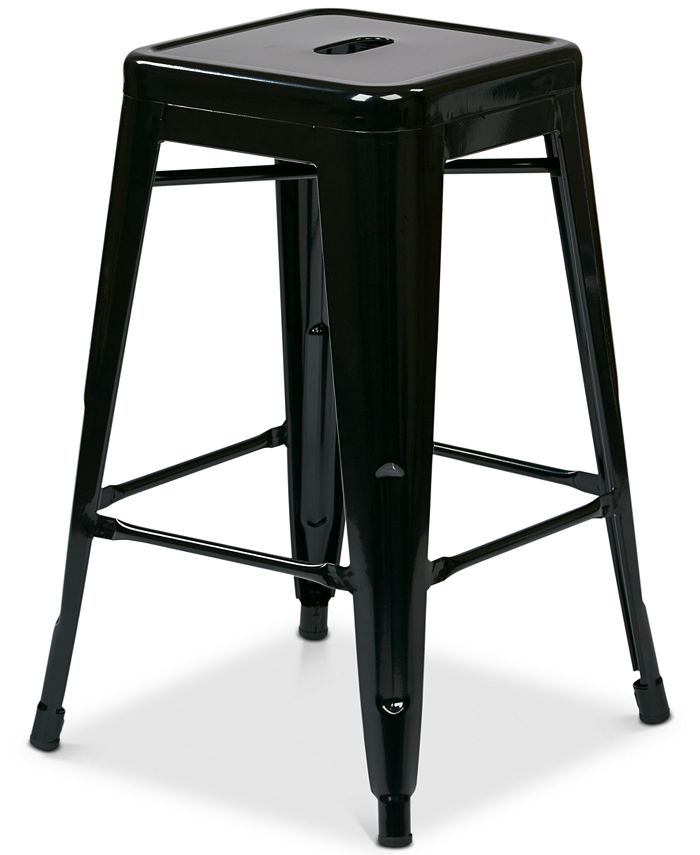 """Office Star - Metal Barstool 24"""" 4-Pack, Quick Ship"""