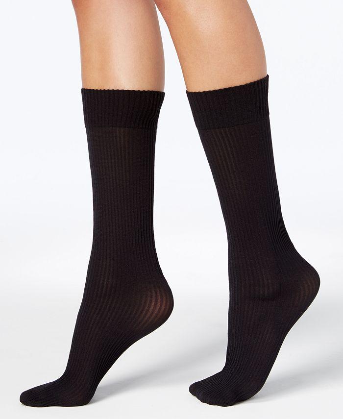 DKNY - Women's 2-Pk. Ribbed Opaque Knee-High Socks