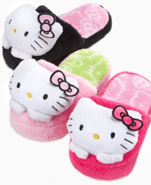 a716570e0 Do you have a Hello Kitty Fan in your house? She will love these Hello  Kitty Girls Superplush Slipper .