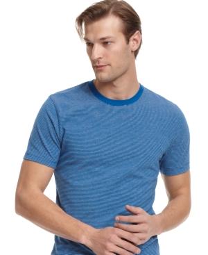 Alfani RED T Shirt, Slim Fit Heather Stripe