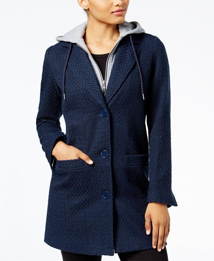 Maralyn & Me - Juniors' Hooded Boyfriend Coat