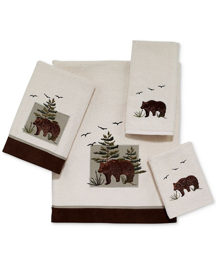 Avanti - Bear Patch Cotton Embroidered Hand Towel