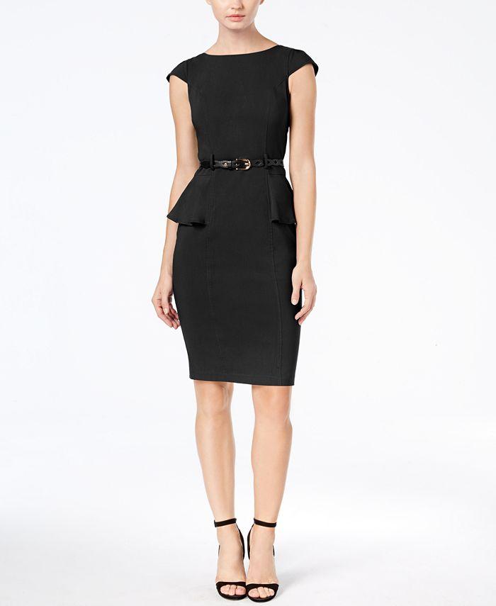 XOXO - Junions' Cap-Sleeve Peplum Sheath Dress