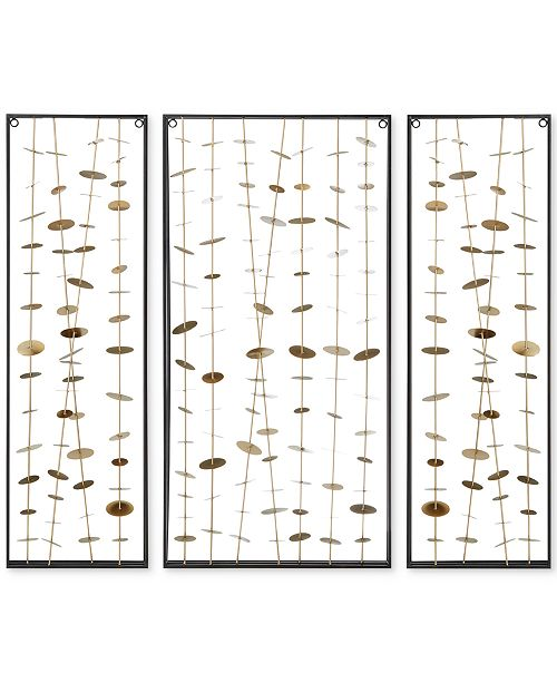 Jla Home Madison Park Signature Clement Metal Wall Decor Set Of 3 Reviews Wall Art Macy S