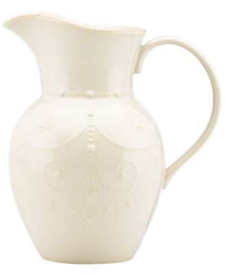 Lenox Dinnerware, French Perle White Large Pitcher