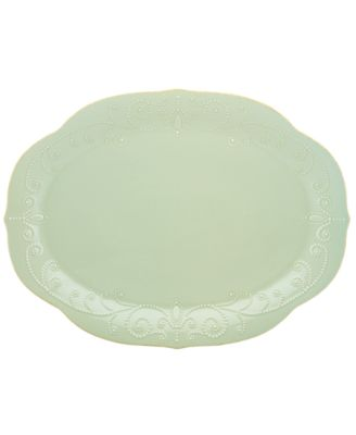 Lenox Dinnerware, French Perle Ice Blue Oval Platter