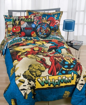 marvel bedding, whamm 2 piece decorative pillow pack bedding