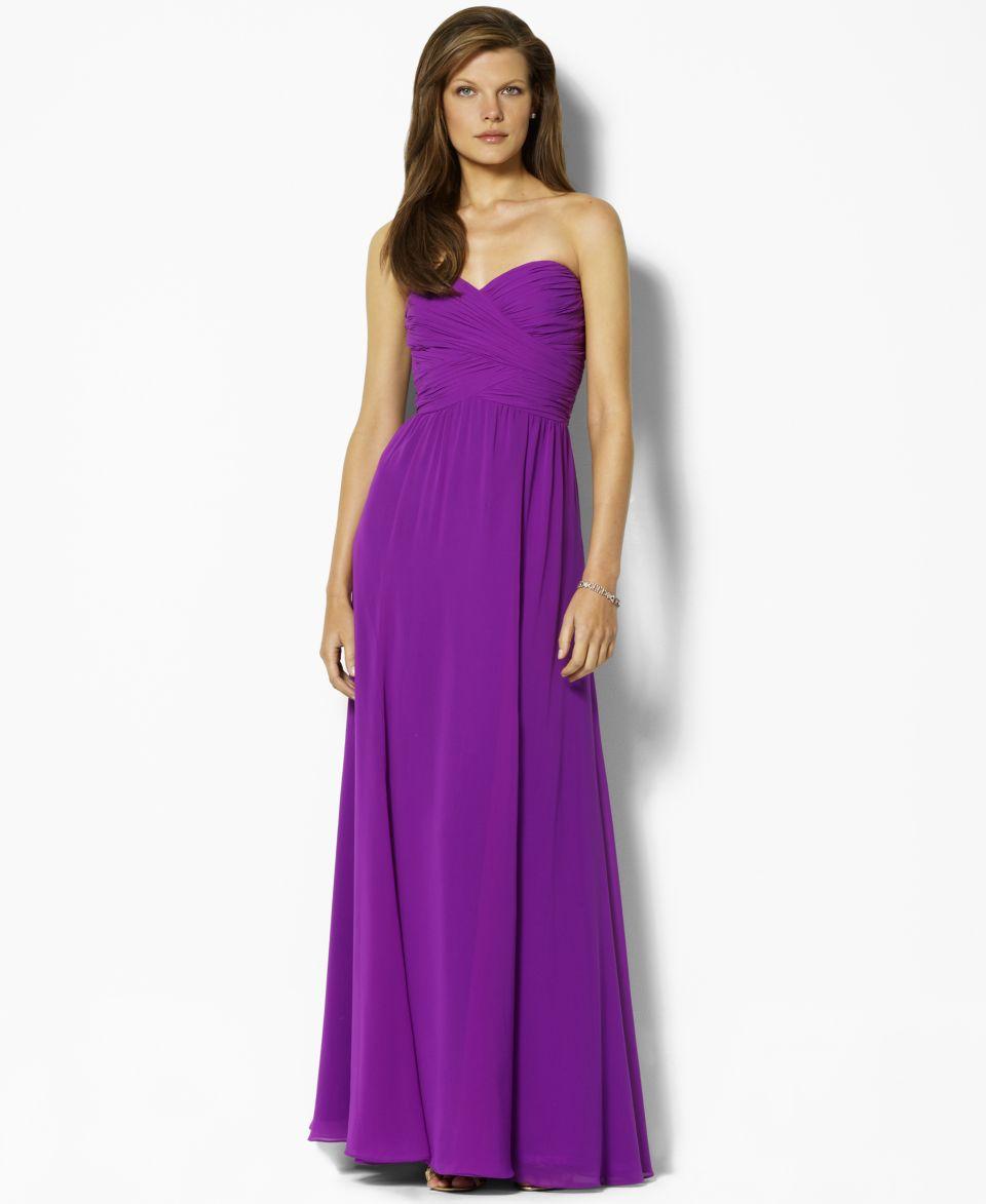 Lauren by Ralph Lauren Dress, Strapless Evening Gown   Dresses   Women