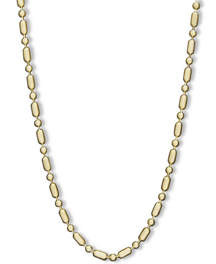 "Macy's - 14k Gold Necklace, 24"" Dot Dash Chain"
