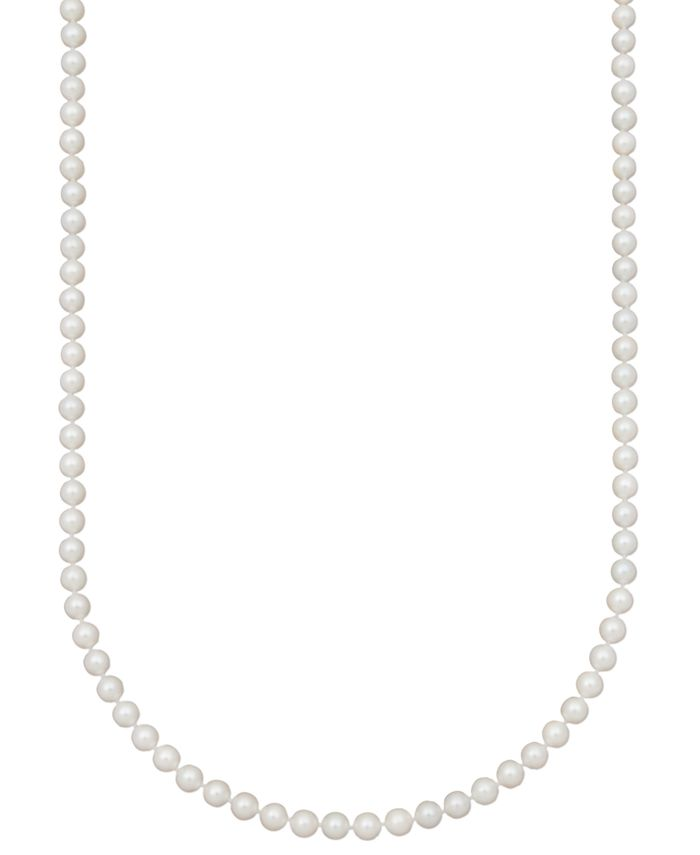 "Belle de Mer - Bell de Mer Pearl Necklace, 20"" 14k Gold A+ Cultured Akoya Pearl Strand (6-6-1/2mm)"
