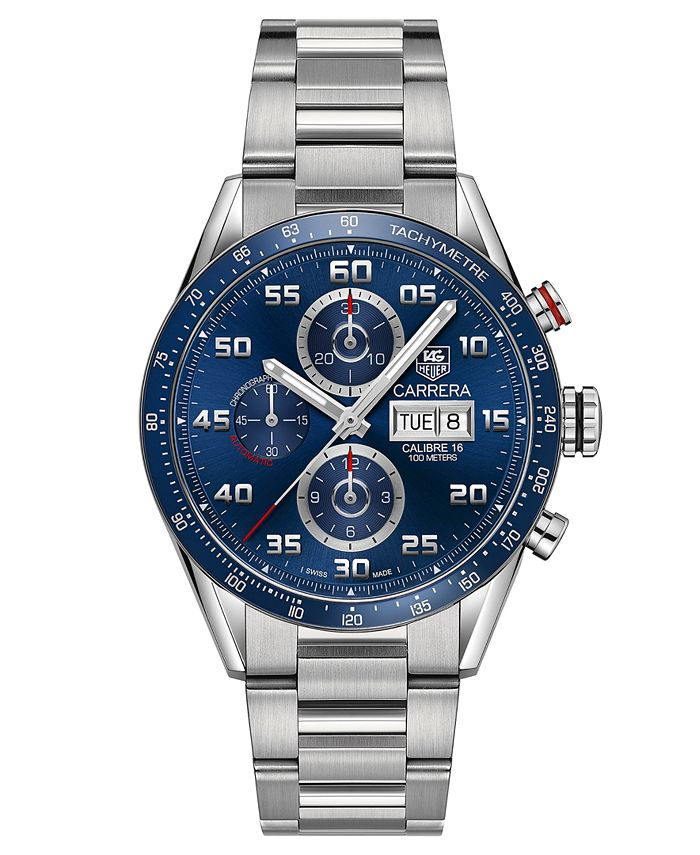 TAG Heuer - Men's Swiss Automatic Chronograph Carrera Steel Bracelet Watch 43mm