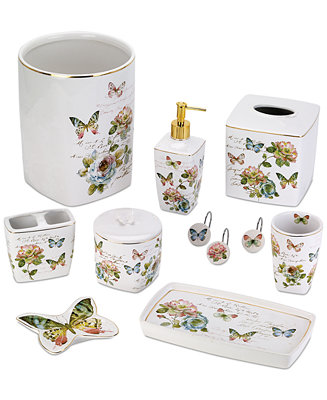 Avanti Butterfly Garden Bath Accessories Collection Reviews Bathroom Bed Macy S