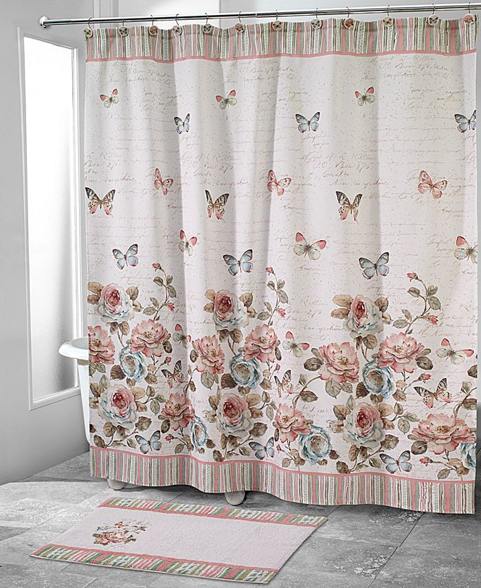 Avanti - Butterfly Garden Shower Curtain