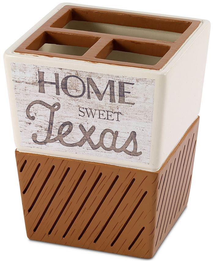 Avanti - Home Sweet Texas Toothbrush Holder