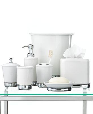 Interdesign Bath Accessories York White Collection