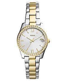 Fossil Women's Scarlette Two-Tone Stainless Steel Bracelet Watch 32mm