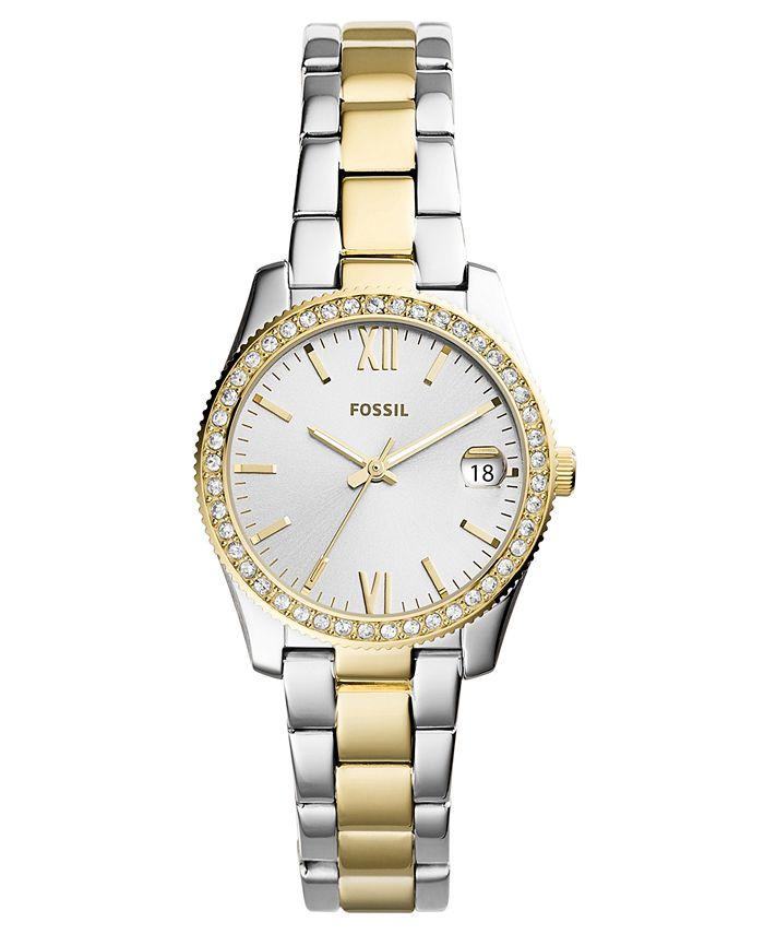 Fossil - Women's Scarlette Two-Tone Stainless Steel Bracelet Watch 32mm
