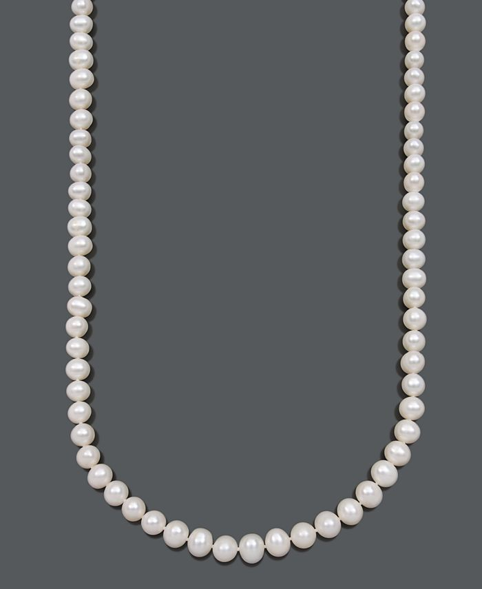 Belle de Mer - Cultured Freshwater Pearl Strand Necklace (8-1/2-9-1/2mm) in 14k Gold