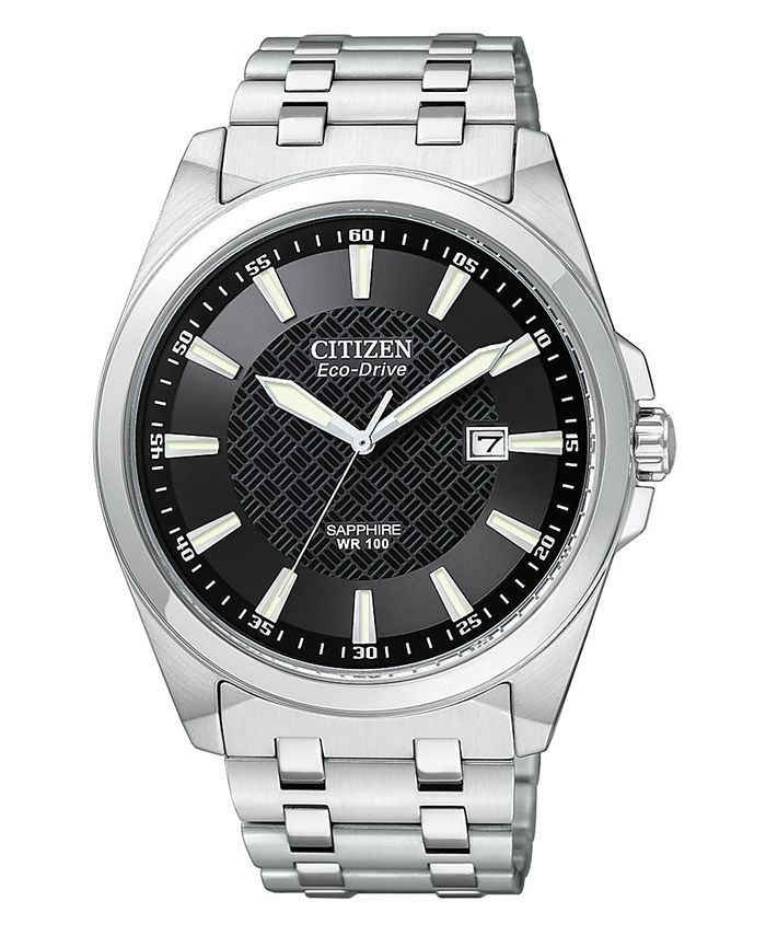 Citizen - Men's Eco-Drive Stainless Steel Bracelet Watch 41mm BM7100-59E
