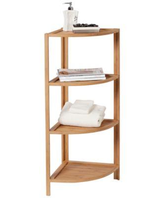 Creative Bath Organization, 4-Shelf Corner Tower
