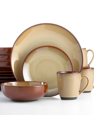Sango Dinnerware, Nova Brown 16 Piece Set