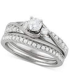 Diamond Bridal Set (7/8 ct. t.w.) in 14k White Gold